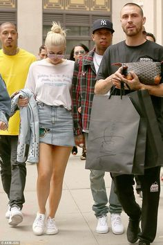 Taking home some goodies: Kylie and her man spent the morning hitting the city's shops... - Kylie Jenner Style