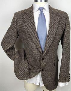 Custom Made Sports Coat 40l 100% Wool Vintage Tweed