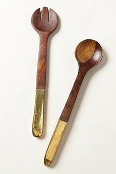 Copper-Plated Serving Set - eclectic - serving utensils - Anthropologie