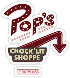 Pops Diner Sticker by anikameeusen