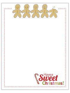 Cute Christmas letter template