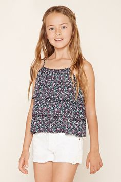 forever 21 girls a slub knit offtheshoulder top with