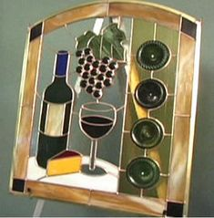 How to Make a Wine Bottle Stained Glass Panel : Decorating : Home & Garden Television