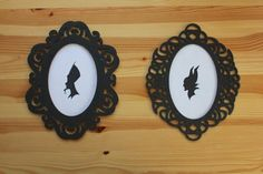 His & Hers Disney Villain Silhouettes   •  Free tutorial with pictures on how to make silhouette art in under 80 minutes