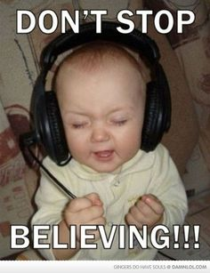 Don't Stop, Believing! Headset, Over Ear Headphones, Electronics, Face, Hilarious Stuff, Choir, Reflection, Miami, Dios