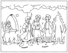 Shadrach Meshach And Abednego Coloring Pages Sketch Page