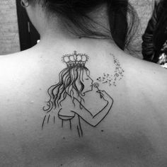 Girl and a crown tattoo