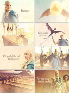 Daenerys, Season 3.4. These last few minutes were absolutely my favorite moments ever in television.