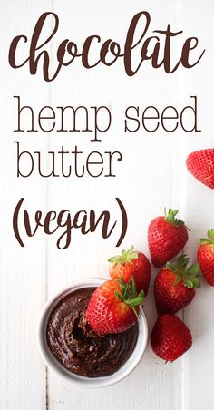 Chocolate Hemp Seed Butter Recipe: creamy, healthy, and naturally-sweetened this chocolate hemp seed butter is delicious in a sandwich, spread on a waffle, and as a dip for fruit or pretzels! Nut-free and vegan. | karissasvegankitchen.com | Vegan Recipes | Clean Eating Recipes