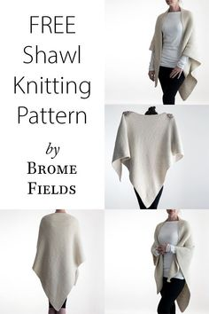 Needlework Projects Over-sized Shawl Knitting Pattern by Brome Fields {Unconditional Love} - Knitting Stitches, Knitting Needles, Free Knitting, Kids Knitting, Easy Knitting Projects, Sock Knitting, Knitting Tutorials, Knitting Machine, Knitting Charts