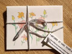 Mixed Set of Floral Stationary - Acrylic Wash with Ink - Set of 6 Folding Cards and Envelopes For Sale on Etsy