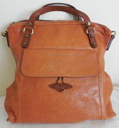 Marco Buggiani Large Brown Italian Leather Satchel #MarcoBuggiani #Satchel