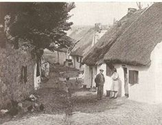 "The Claddagh, shortly before they were demolished, where the ""native"" Irish lived...just outside the city walls of Galway where the ""elite"" lived..."
