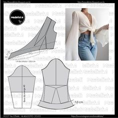 Fashion Sewing, Diy Fashion, Ideias Fashion, Fashion Outfits, Diy Clothing, Sewing Clothes, Clothing Patterns, T Shirt Sewing Pattern, Sewing Sleeves