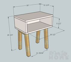 Simple Modern Nightstand by More Like Home - diy furniture plans Pallet Furniture, Furniture Projects, Home Projects, Home Furniture, Rustic Furniture, Furniture Stores, Modern Furniture, Antique Furniture, Furniture Dolly