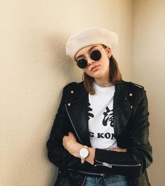 Simple beret trend in different photos and latest fashion styles.