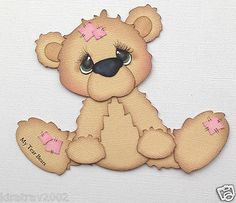 Premade Patched Teddy Girl Paper Piecing by My Tear Bears Kira | eBay