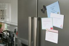 Magnetic Party invitations, which are so clever - they can stay on the fridge, guests will never forget to RSVP. www.rockpaperstickers.co.uk