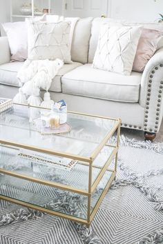 Neutral Living Room   Blush and Cream Living Room   New York City apartment   Small apartment decor ideas   Home Decor