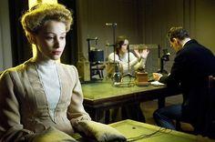 Sarah Gadon as Emma Jung, Keira Knightley as Sabina Spielrein and Michael Fassbender as Carl Jung in A Dangerous Method (2011).