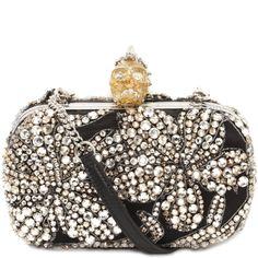 Jewel Embroidered Skull Box Clutch Alexander McQueen | Clutch | Bags |