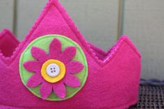Pink Traditional Felt Crown Flower Power. $18.00, via Etsy.