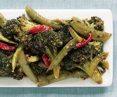 Spicy Asian Roasted Broccoli & Snap Peas Recipe