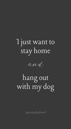 I just want to stay home and hang out with my dog. - Funny Dog Quotes - I just want to stay home and hang out with my dog. The post I just want to stay home and hang out with my dog. appeared first on Gag Dad. Dog Quotes Funny, Funny Dogs, Me Quotes, I Love Dogs, Puppy Love, Citations Film, Crazy Dog Lady, Animal Quotes, Dog Life