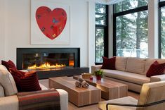 modern living room by Heffel Balagno Design Consultants Stone Fireplace Surround, Natural Stone Fireplaces, Design Consultant, Interior Architecture, Home Goods, Family Room, Living Rooms, House, Couches