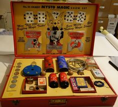 A C Gilbert Mysto Magic Set # 25 Show Set Largest Made Great Condition #GilbertMystoMagic