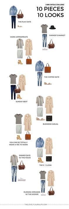 A mini capsule challenge [10x10 challenge] - 10 pieces, 10 outfits