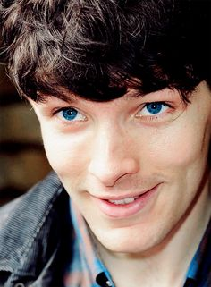 Colin Morgan. Oh his eyes! I love his amazing blue blue eyes!