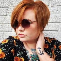25 Pretty Short Hairstyles for Chubby Round Faces: Fat Girl with Short Hair; Pixie Haircut For Round Faces, Short Hair Styles For Round Faces, Short Hair Styles Easy, Medium Hair Styles, Short Hair For Chubby Faces, Round Face Short Hair, Fat Face Haircuts, Hairstyles For Fat Faces, Short Hairstyles For Thick Hair