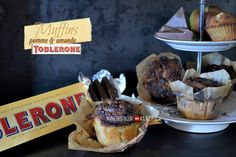Recette muffins - muffins aux pommes, amande et chocolat toblerone