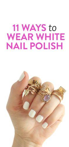 11 ways to wear white nail polish