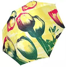 Artsadd Fashion Umbrella Tulips Foldable Sun Rain Travel Umbrella