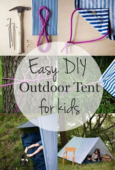 How to make an easy DIY outdoor tent for kids