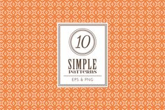 Check out Set of 10 simple patterns Vol. 1 by Dreaming_Lucy on Creative Market