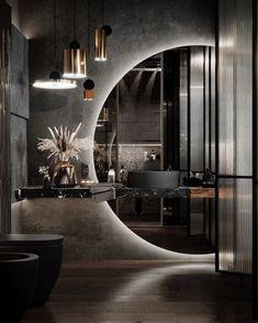 Home Room Design, Dream Home Design, Modern House Design, Modern Interior Design, Interior Architecture, Interior And Exterior, Exterior Design, Design Interiors, Modern Mirror Design