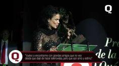 La reconocida actriz, modelo y bailarina de origen cubano, recibe el premio a la excelencia por parte de Revista Q, reconociendo su gran trayectoria artística.