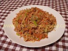 + Asijské nudle 2 Spaghetti, Food And Drink, Pasta, Ethnic Recipes, Vietnam, Indie, Lasagna, Essen, Recipies
