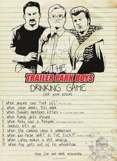 Trailer Park Boys Drinking game anyone? - Imgur