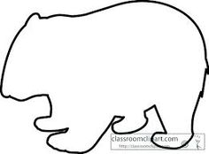wombat line art google search