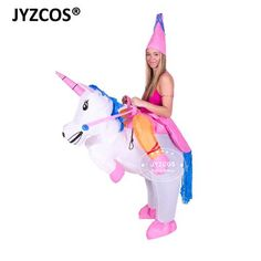 b1c335390 Inflatable Unicorn Costumes Carnaval Princess Outfit Purim Party Fancy  Dress Halloween Costumes for Kids Women Men