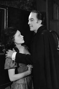 """Wendy Hamilton and Christopher Lee """"Scars of Dracula"""", 1970 Hammer Horror Films, Hammer Films, Freddy Krueger, White Image, The Villain, Film Movie, Movies, American Horror Story, Photographic Prints"""