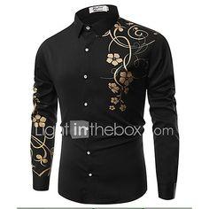 e08979c277 Hombre Vintage Estampado - Algodón Camisa