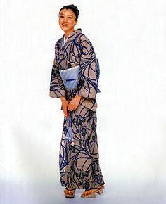 奥州小紋「あやめの柄」商品No.5514