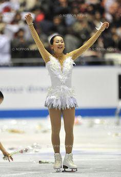 Mao Asada (JPN),.APRIL 13, 2013 - Figure Skating :.ISU World Team Trophy in Figure Skating Women's Free Skating at Yoyogi 1st Gymnasium in Tokyo, Japan. (Photo by AFLO)