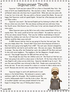 build comprehension boost vocabulary and let students spend a  informational text about important people in civil war sojourner truth harriet tubman frederick