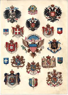 Chromolithograph Plates/International & USA MEDALS, INSIGNIA, EMBLEMS - 1896
